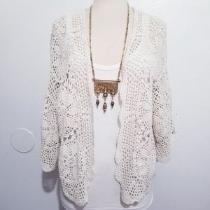 Willow and clay crochet cardigan